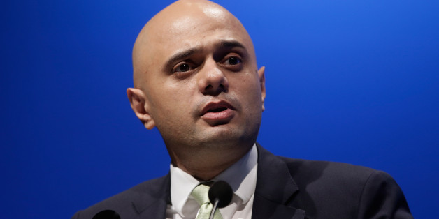 LONDON, ENGLAND - OCTOBER 30:  Sajid Javid presents during the Bankers' Panel in Internationalising Islamic Finance at the World Islamic Economic Forum at ExCel on October 30, 2013 in London, England.  (Photo by Matthew Lloyd/Getty Images for 9th World Islamic Economic Forum)