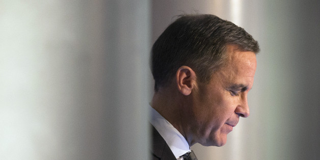Mark Carney, governor of the Bank of England, pauses as he delivers a speech in Edinburgh, U.K., on Wednesday, Jan. 29, 2014. Scotland will probably need to mirror the euro-region's integration plans and surrender some sovereignty if the nation votes to separate from the rest of the U.K., Carney said. Photographer: Simon Dawson/Bloomberg via Getty Images