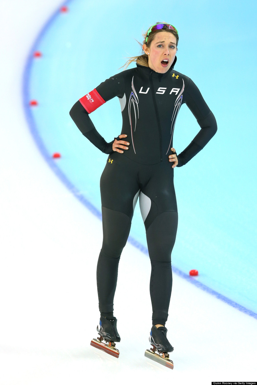 What Are Those Crotch Patches On The Outfits Of The USA Olympic Speed Skating Team? (PHOTOS)