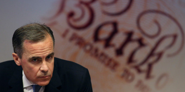Mark Carney, governor of the Bank of England, pauses during the bank's quarterly inflation report news conference at the Bank of England in London, U.K., on Wednesday, Feb. 12, 2014. The Bank of England said it will keep its key interest rate at a record low even after unemployment reaches its 7 percent threshold as it introduced a new phase of Carney's forward-guidance policy. Photographer: Chris Ratcliffe/Bloomberg via Getty Images