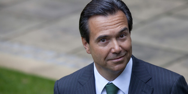 Antonio Horta-Osorio, chief executive officer of Lloyds Banking Group Plc, poses for a photograph outside the company's headquarters after returning to work in London, U.K., on Monday, Jan. 9, 2012. Horta-Osorio said he was 'thrilled to be back' and was 'looking forward to working with colleagues again.' Photographer: Simon Dawson/Bloomberg via Getty Images