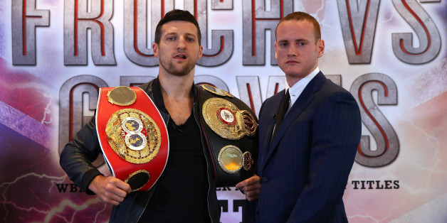 MANCHESTER, ENGLAND - SEPTEMBER 17:  Carl Froch and George Groves go head to head to promote their upcoming fight during a press conference at the Radisson Blu Edwardian Hotel on September 17, 2013 in Manchester, England.  (Photo by Alex Livesey/Getty Images)