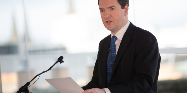 EDINBURGH, UNITED KINGDOM - FEBRUARY 13:  Britain's Chancellor of the Exchequer George Osborne delivers a speech at the Point Hotel on February 13, 2014 in Edinburgh, Scotland.  Osborne said that a vote for Scottish independence would mean walking away from the pound. (Photo by James Glossop/WPA Pool/Getty Images)