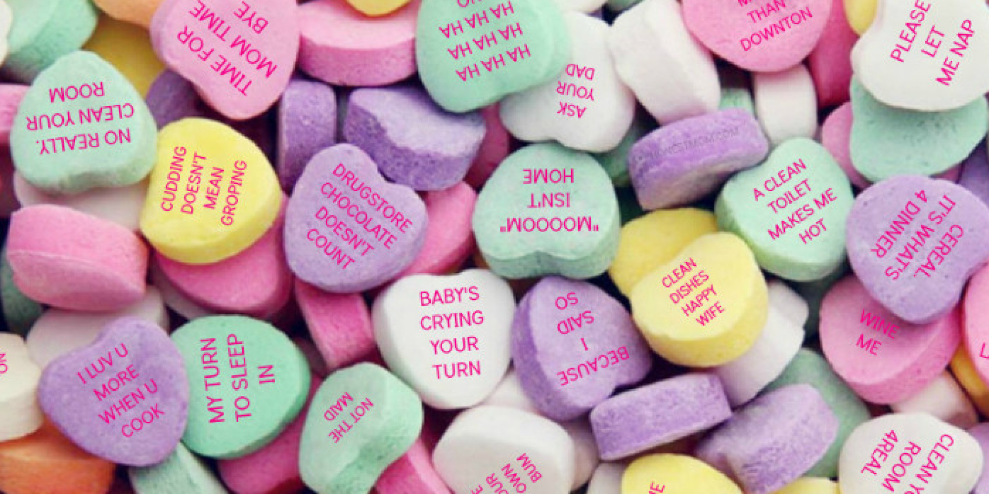 if moms wrote candy conversation hearts | huffpost