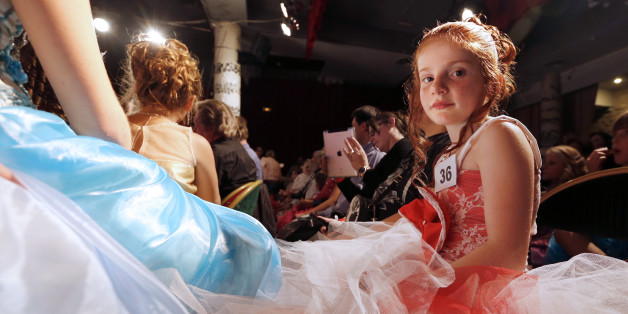 Contestants of the beauty contest mini Miss France 2014, for children from 5 to 11 years old. Russia could ban similar events.