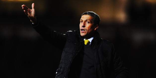 LONDON, ENGLAND - FEBRUARY 11:  Norwich City manager Chris Hughton shouts instructions on the touchline during the Barclays Premier League match between West Ham United and Norwich City at the Boleyn Ground on February 11, 2014 in London, England.  (Photo by Mike Hewitt/Getty Images)