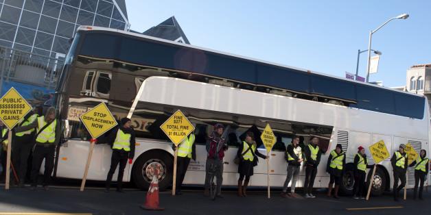 Die Bewohner von San Francisco protestieren mit Bus-Blockaden gegen den Tech-Boom