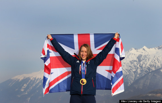 lizzy yarnold gold post box