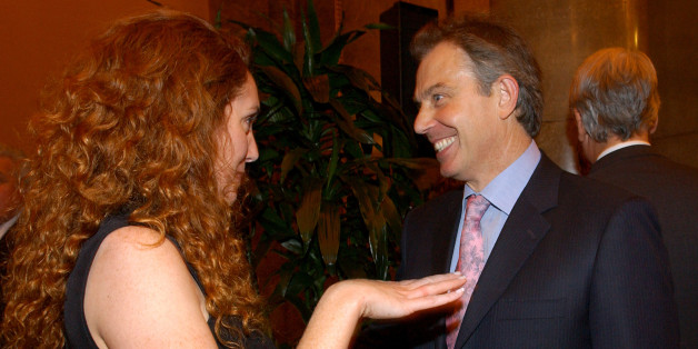 British Prime Minister, Tony Blair speaks to Rebekah Wade, Editor of the Sun, during the Newspaper Press Fund 40th anniversary reception in central London.