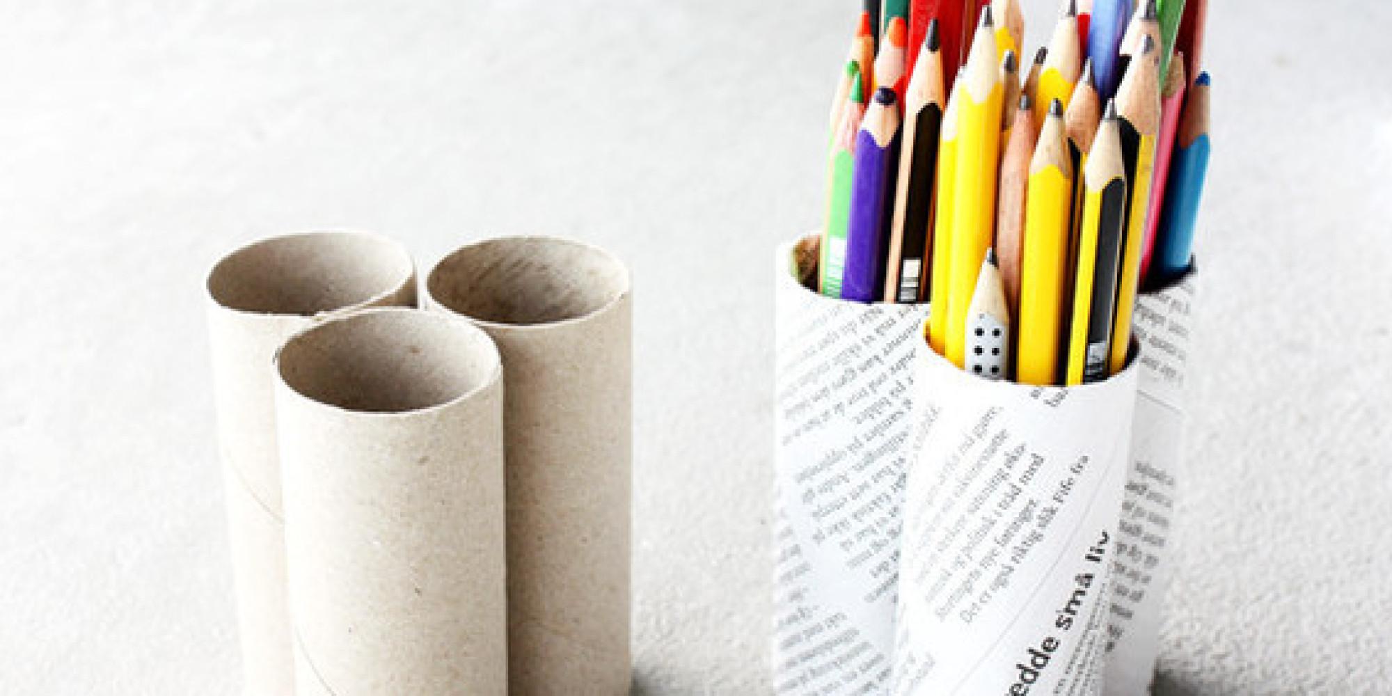 Как сделать объемный карандаш из бумаги