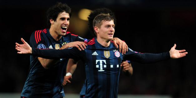 Kroos celebrates his opener at Arsenal