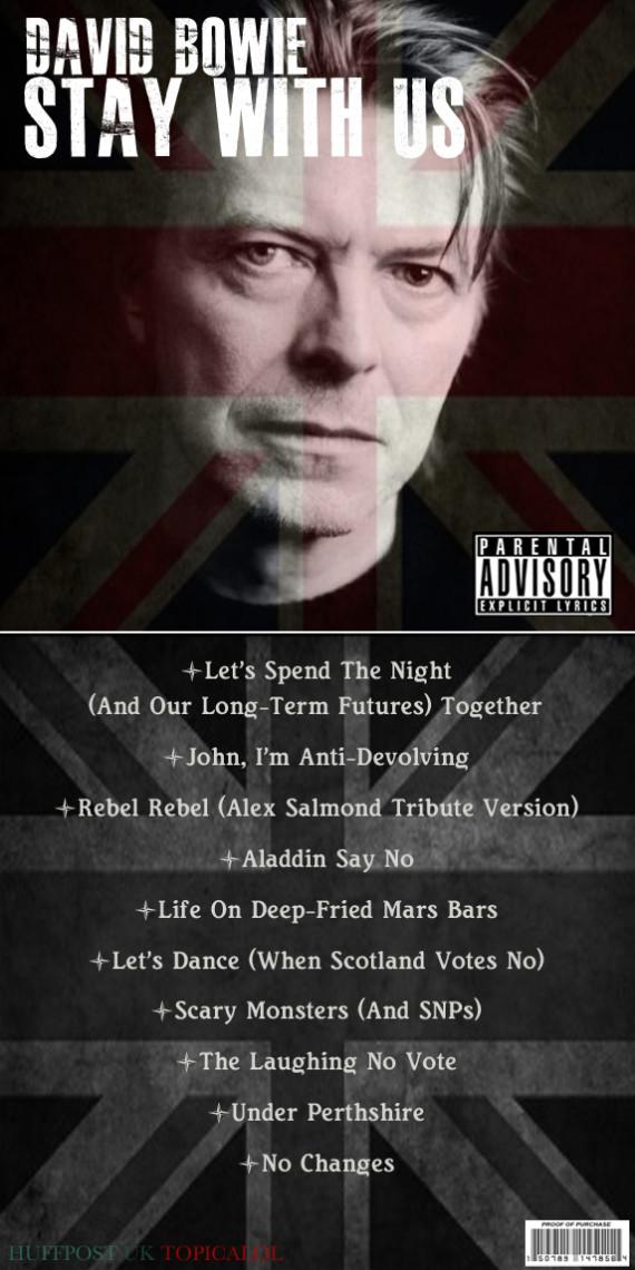 david bowie scotland album spoof