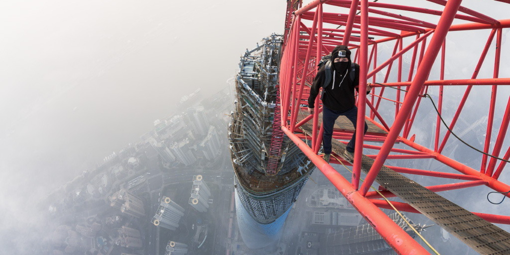 The Story Behind That Insane Shanghai Tower Climb Huffpost