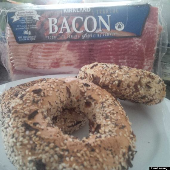 bacon bagels