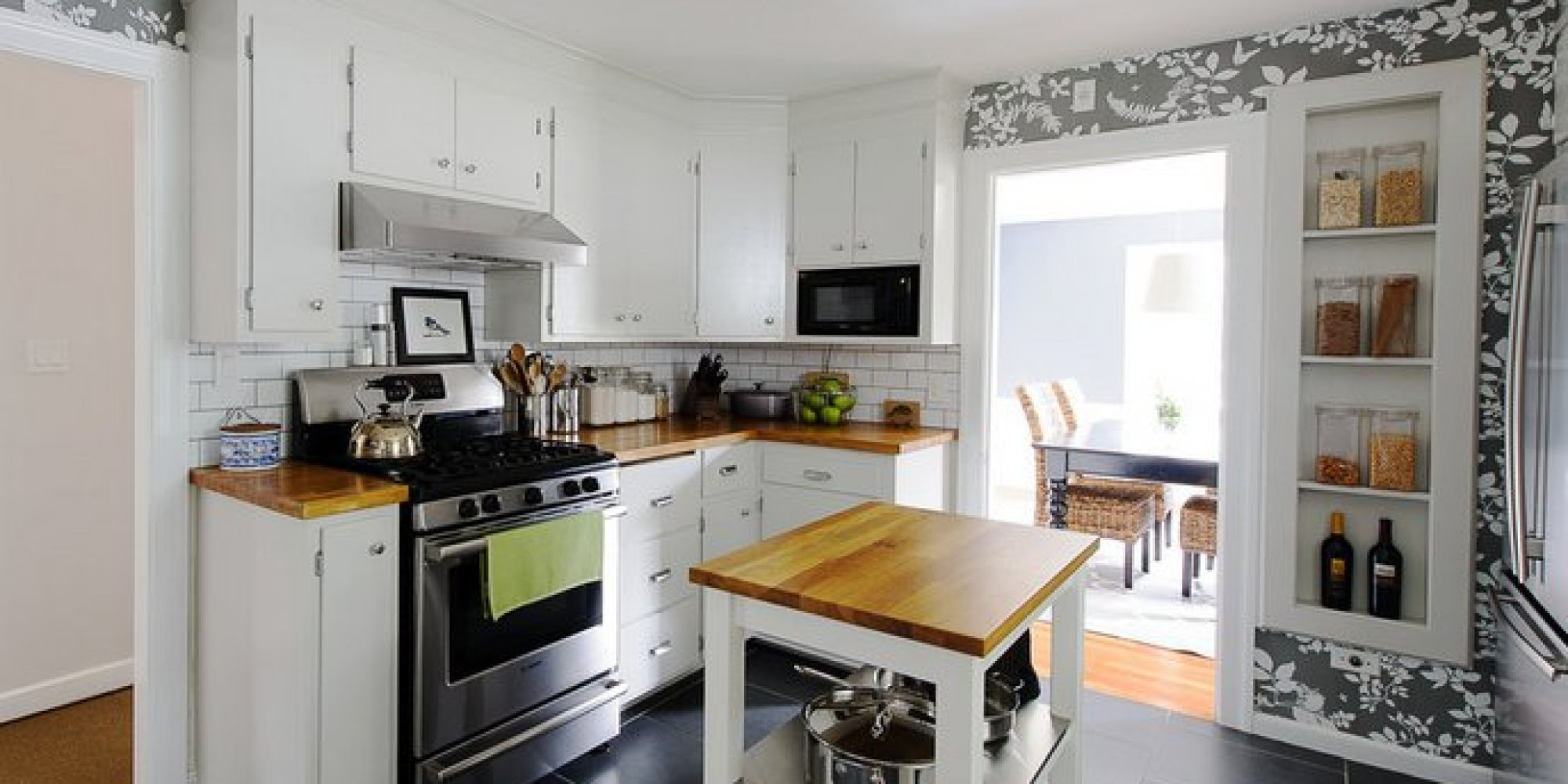 19 inexpensive ways to fix up your kitchen photos huffpost for Low cost kitchen ideas