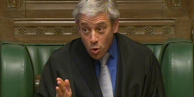 John Bercow, Speaker of the House of Commons addresses MPs in the House of Commons, London.