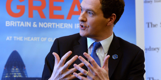 British finance minister George Osborne speaks at an event in Sydney on February 21, 2014, where he reiterated that it will not be possible for Scotland to keep using the pound if it votes to become independent.  'Part of our job, for those of us who are not in Scotland, is to point out some of the consequences of independence,' he said in Sydney, where he was attending this weekend's G20 summit of finance ministers and central bankers.  AFP PHOTO/William WEST        (Photo credit should read WI