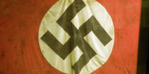 Swastika flag, German Underground Military hospital, Guernsey, Channel Islands, UK. (Photo By: Geography Photos/UIG via Getty Images)