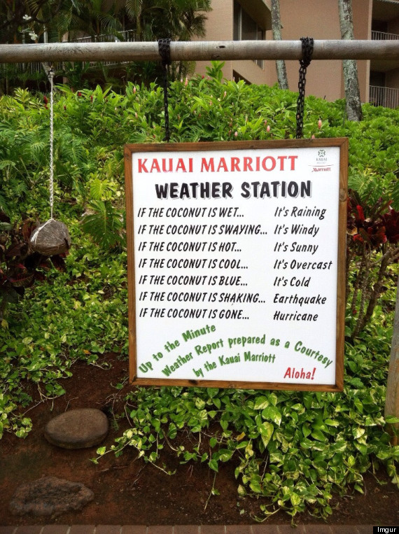 kauai marriott coconut weather station