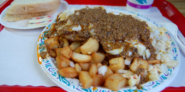 From Nick Tahou's, where the garbage plate was born.