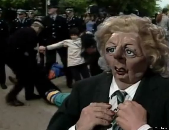 margaret thatcher spitting image