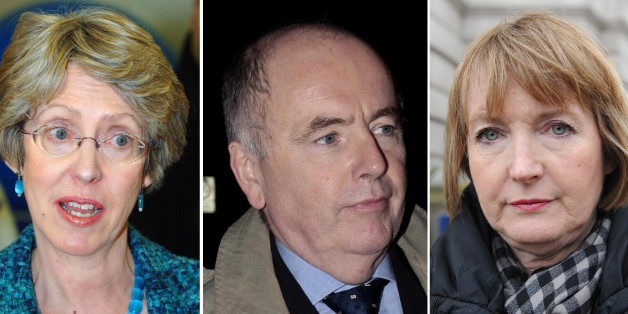 (From the left) Former health secretary Patricia Hewitt, MP Jack Dromey and Deputy leader of the Labour party Harriet Harman, as Ed Miliband has defended his deputy Harriet Harman amid questions about her alleged links to paedophile rights campaigns.