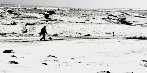 Snow and ice made getting around difficult on the Buttertubs Pass between Wharfedale and Swaledale as bad weather continues to affect many parts of the UK.