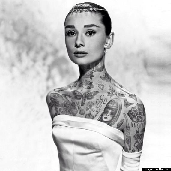audrey hepburn tattoo