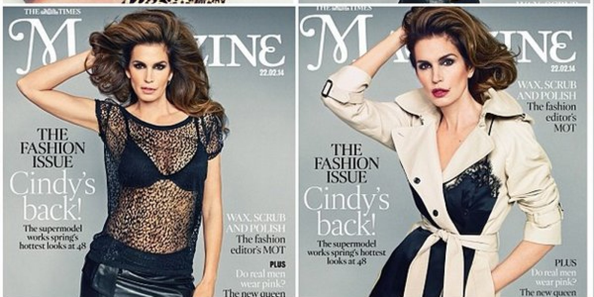 Cindy Crawford Is Smokin\' Hot On Cover Of The Times Magazine | HuffPost
