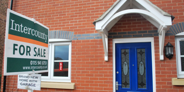 A new build home goes unsold a year after completion on a new housing estate in Nottingham