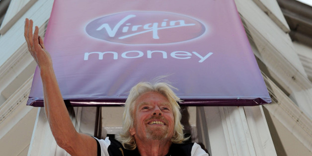 Sir Richard Branson at the New Vigin Money branch, at the former Northern Rock Branch on Northumberland Street in Newcastle.