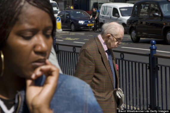 black white people uk street