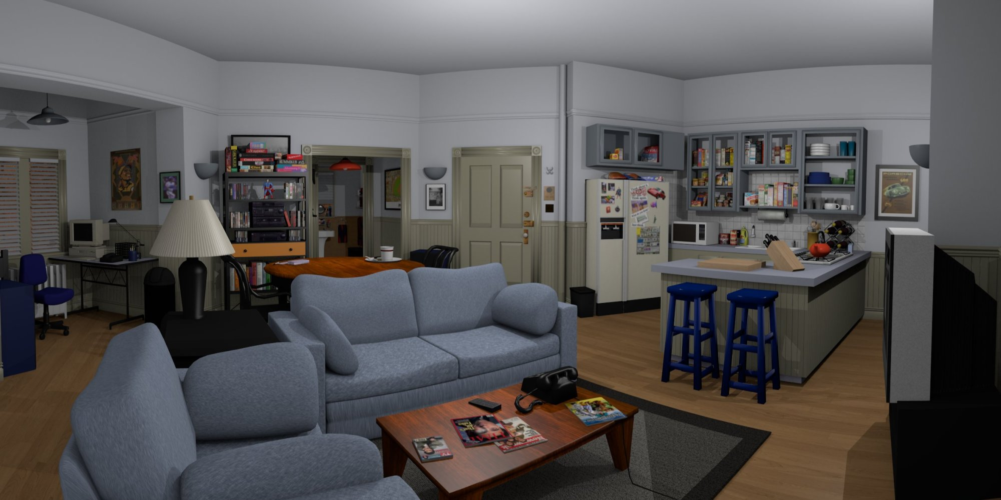 Walk Through The 39 Seinfeld 39 Apartment With This Very
