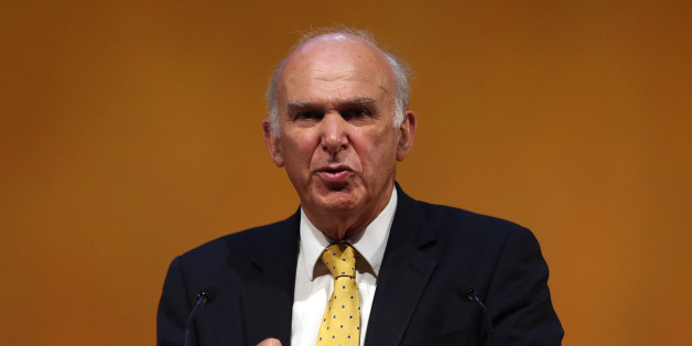 GLASGOW, SCOTLAND - SEPTEMBER 16:  Business Secretary Vince Cable speaks to conference during his key-note speech at the SECC, Scottish Exhibition and Conference Centre on September 16, 2013 in Glasgow, Scotland. Deputy British Prime Minister and Leader of the Liberal Democrats Nick Clegg has denied any suggestions of a rift between him and his Cabinet colleague Business secretary Vince Cable over the Liberal Democrats future economic policy.  (Photo by Dan Kitwood/Getty Images)