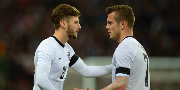 LONDON, ENGLAND - MARCH 05: Adam Lallana of England replaces Jack Wilshere of England  during the International Friendly match between England and Denmark at Wembley Stadium on March 5, 2014 in London, England.  (Photo by Michael Regan - The FA/The FA via Getty Images)