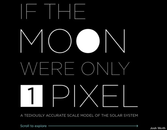 Josh Worth's 'Tediously Accurate Scale Model Of The Solar System' Is Very Wide