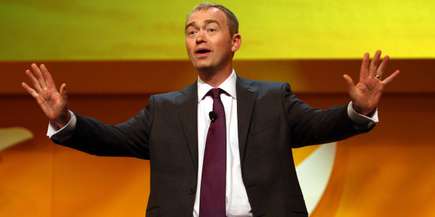 President of the Liberal Democrats Tim Farron addresses the Liberal Democrat Annual Conference at the ICC in Birmingham.