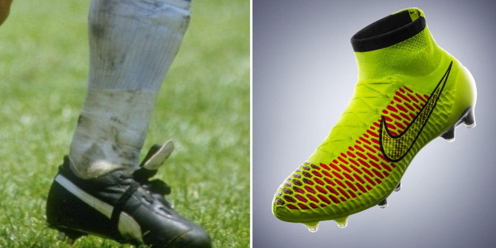 1e65ce610261b Mira la evolución de los zapatos de fútbol