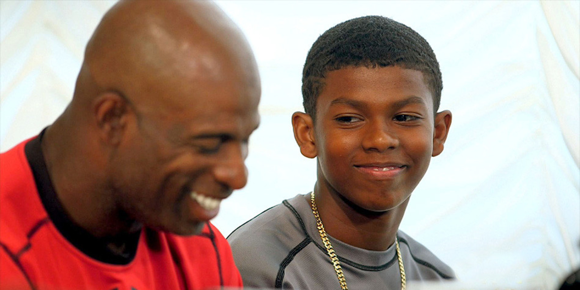 deion sanders and his talented teenage son play the blues. Black Bedroom Furniture Sets. Home Design Ideas
