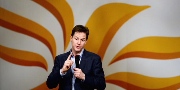 YORK, ENGLAND - MARCH 08:  Nick Clegg, deputy prime minister and leader of the Liberal Democrat Party, takes questions during the annual spring conference on March 8, 2014 in York, England. Nick Clegg and his Liberal Democrats have gathered for their spring conference in York under the imaginary banner claiming we're not the Tories or Labour and we're definitely not Ukip.  (Photo by Jeff J Mitchell/Getty Images)