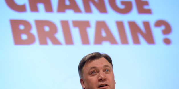 Shadow Chancellor Ed Balls speaking at the Fabian Society annual conference at the Institute of Education, London.