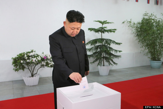 kim jong un casting his vote