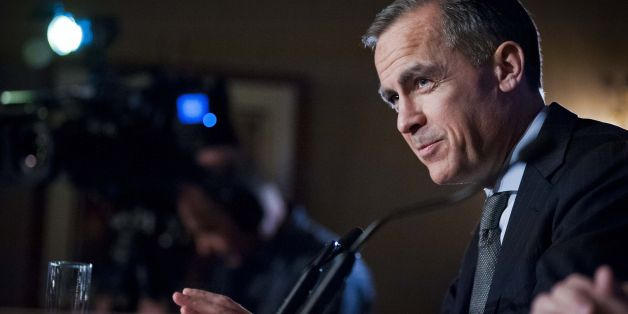 Bank of England governor Mark Carney gives a speech at the George Hotel in Edinburgh during a Scottish Council of Development and Industry event.