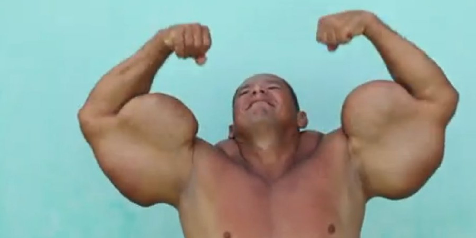 Brazilian Bodybuilder Admits His 29-Inch Biceps Are Fake | HuffPost