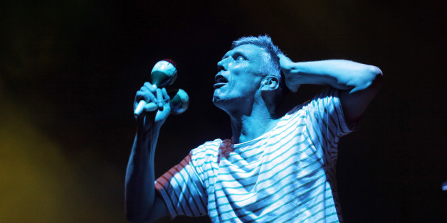 CHELMSFORD, UNITED KINGDOM - AUGUST 19: Bez of The Happy Mondays performs live on day 2 of V Festival 2012 at Hylands Park on August 19, 2012 in Chelmsford, England. PHOTOGRAPH BY Ruaridh Connellan / Barcroft Media /Barcoft Media via Getty Images