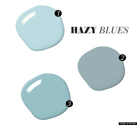light blue paint