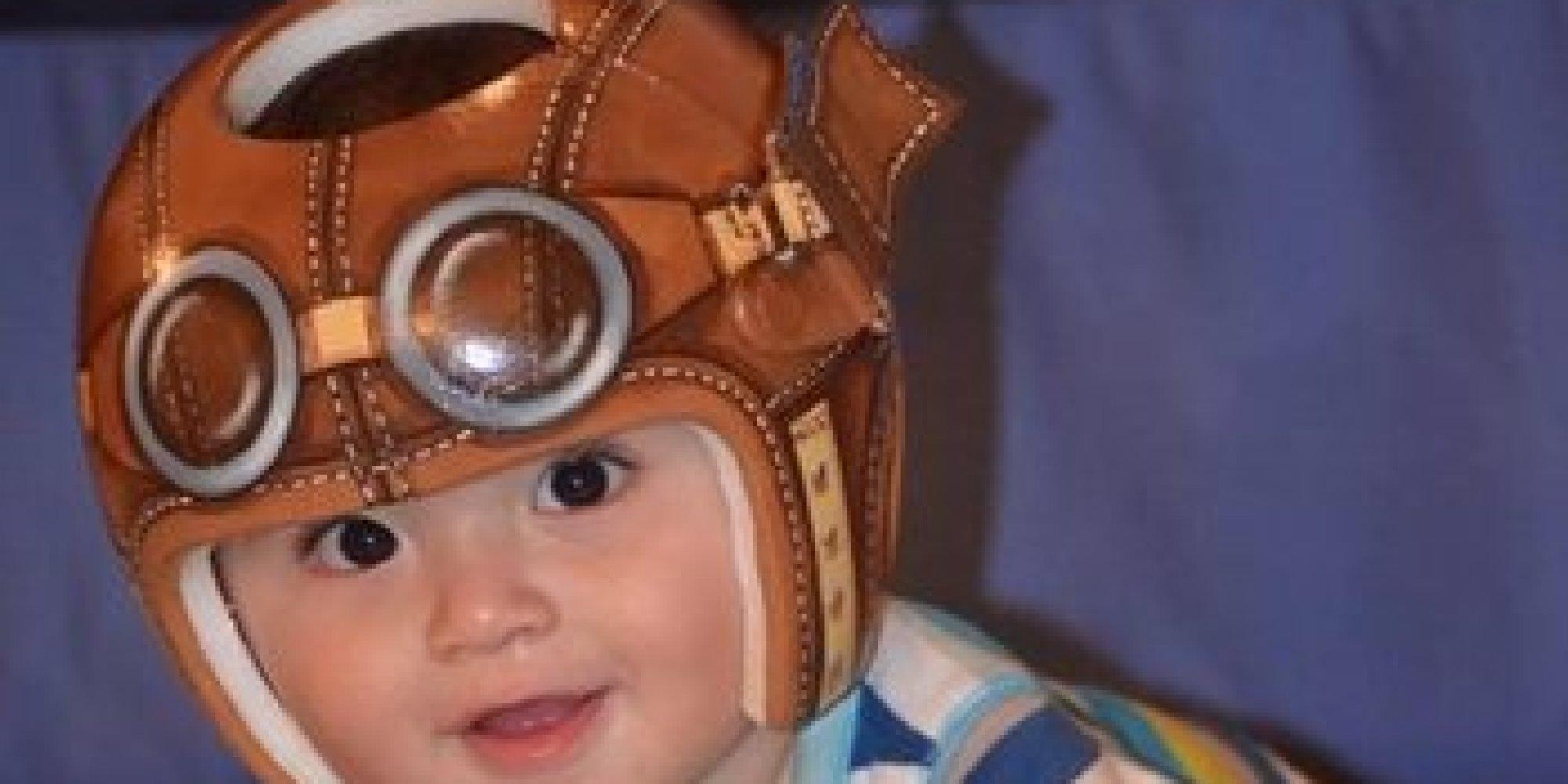 Artist Turns Babies HeadShaping Helmets Into Impressive Works Of - Baby helmet decals
