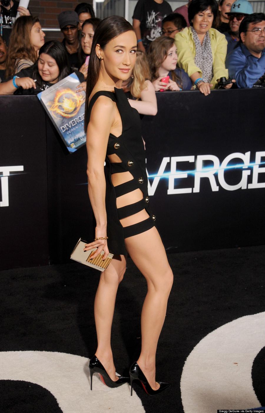 Maggie Q Goes Commando At Divergent Premiere Photos