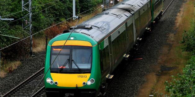 A London Midland train in West Bromwich.