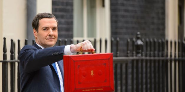 Chancellor of the Exchequer George Osborne outside 11 Downing Street before heading to the House of Commons to deliver his annual Budget statement.